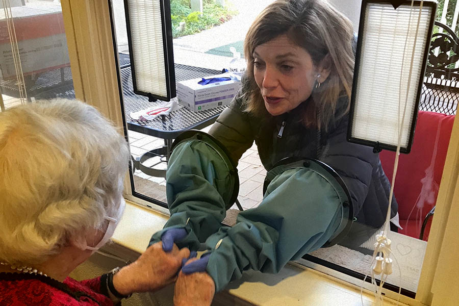 We installed SafeHug windows at three of our partner assisted living facilities so seniors can safely reconnect with their families.